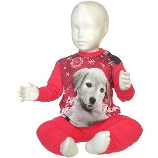 Fun2wear meisjes pyjama 'Puppy' fuchsia